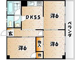 松村コーポ[205号室]の間取り