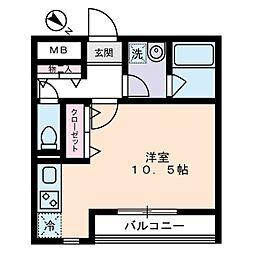 ポルタ西新宿[2階]の間取り