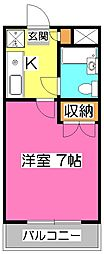 埼玉県所沢市東所沢1丁目の賃貸マンションの間取り