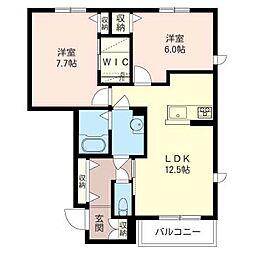 エーデル メゾン II[1階]の間取り