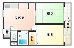イエローハイツ[3階]の間取り