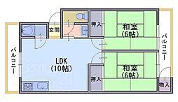 永田ハイツ[1階]の間取り