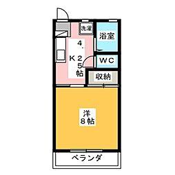 アキラハイツII[2階]の間取り