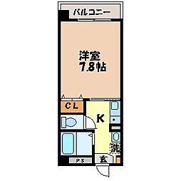 長崎県長崎市竹の久保町の賃貸マンションの間取り