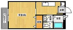 京都府京都市上京区丸屋町の賃貸アパートの間取り