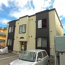 北海道江別市大麻泉町の賃貸アパートの外観