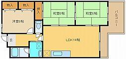 兵庫県神戸市垂水区五色山7丁目の賃貸マンションの間取り