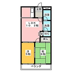 三重県津市新町2丁目の賃貸アパートの間取り