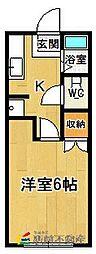 コーポ山田Ⅴ[2階]の間取り