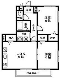 サンガーデン宮本E棟[2階]の間取り