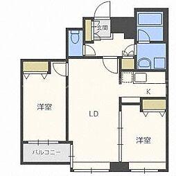 ラフィネタワー札幌南3条[12階]の間取り