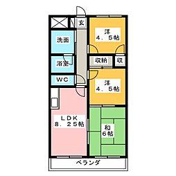 セジュール[1階]の間取り