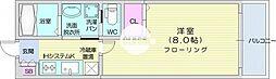 アリュール北仙台 1階1Kの間取り