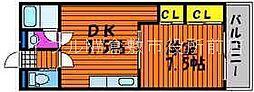 岡山県倉敷市上東の賃貸マンションの間取り