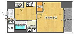 北大阪急行電鉄 桃山台駅 徒歩8分の賃貸マンション 4階1Kの間取り