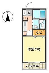 愛知県長久手市上川原の賃貸マンションの間取り