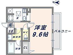 イーグルコート[1階]の間取り