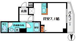 HR・FRONT・REGAL新森 3階ワンルームの間取り