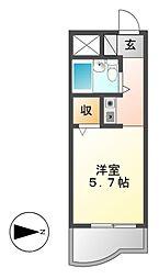 ジョイフル御器所[1階]の間取り