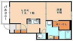 クレメントⅡ[1階]の間取り