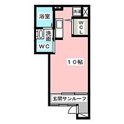 アンジュ湊II[1階]の間取り