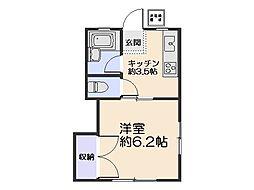 コーポ永島[D号室]の間取り
