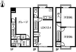 [テラスハウス] 愛知県一宮市猿海道二丁目 の賃貸【/】の間取り