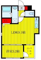 Grand Residence OJI 1階1LDKの間取り