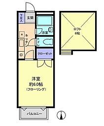 リルパイン越谷B棟[2階]の間取り