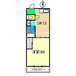ロイヤルガーデンI[5階]の間取り
