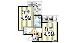 アメニティ東神戸3番館[3306号室]の間取り
