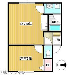 ソニアコート[1階]の間取り