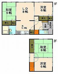 [一戸建] 北海道小樽市長橋5丁目 の賃貸【北海道 / 小樽市】の間取り
