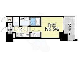 JR東海道・山陽本線 岸辺駅 徒歩5分の賃貸マンション 7階1Kの間取り