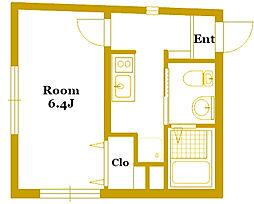 b'CASA Tanmachi[1階]の間取り