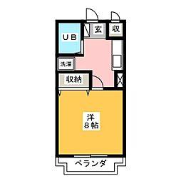 コーポ浅田[2階]の間取り