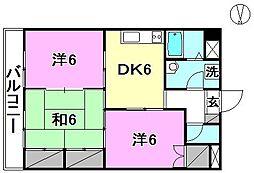 エクシード久万ノ台[306 号室号室]の間取り