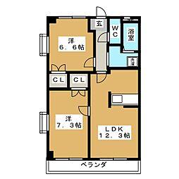 オータムライトIII[4階]の間取り