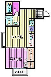 プロヴァンス二番館[102号室]の間取り