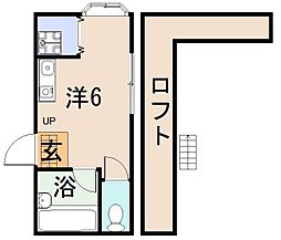 近代ビル[2階]の間取り