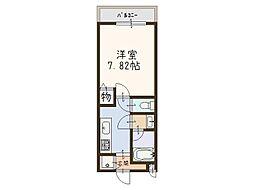 大阪府和泉市府中町6の賃貸アパートの間取り