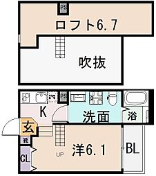 cocotii[2階]の間取り