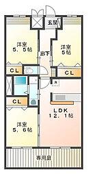 (仮)感田新築アパート[1階]の間取り