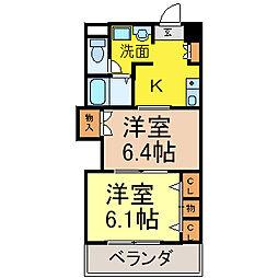 プレステ−ジ名古屋[3階]の間取り