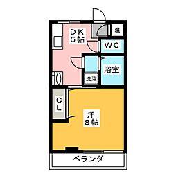 愛知県名古屋市千種区日和町5丁目の賃貸マンションの間取り