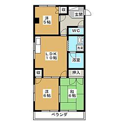 豊島ビル[3階]の間取り