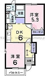 クレストールユキ・D 101[101号室]の間取り