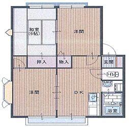ヴァンヴェールB[2階]の間取り