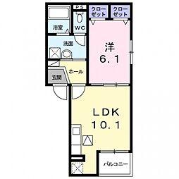 ラシュレコニシ[2階]の間取り