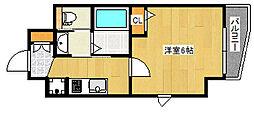 JR東海道・山陽本線 灘駅 徒歩2分の賃貸マンション 2階1Kの間取り